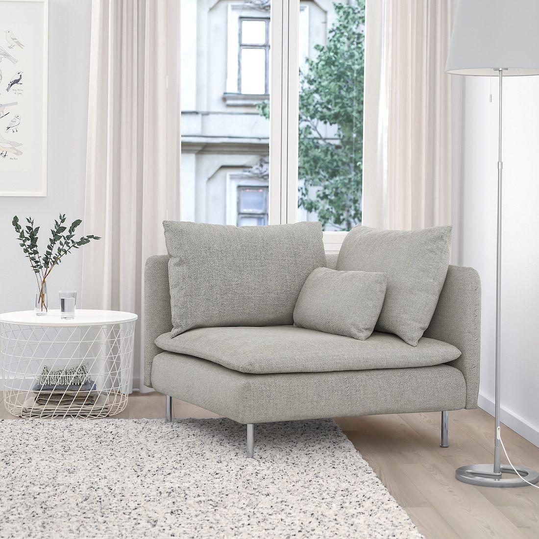 SÖDERHAMN Corner section, Viarp beige/brown - IKEA in 2020 ...