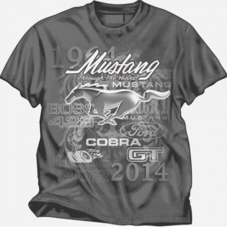 FORD MUSTANG 50 YEARS THROUGH THE YEARS 1964 – 2014 CHARCOAL TEE SHIRT $15.95 - http://www.carhootsstore.com/product/ford-mustang-50-years-years-1964-2014-charcoal-tee-shirt/?utm_source=Pinterest&utm_medium=T-Shirt&utm_content=FORD%20MUSTANG%2050%20YEARS%20THROUGH%20THE%20YEARS&utm_campaign=Clothing