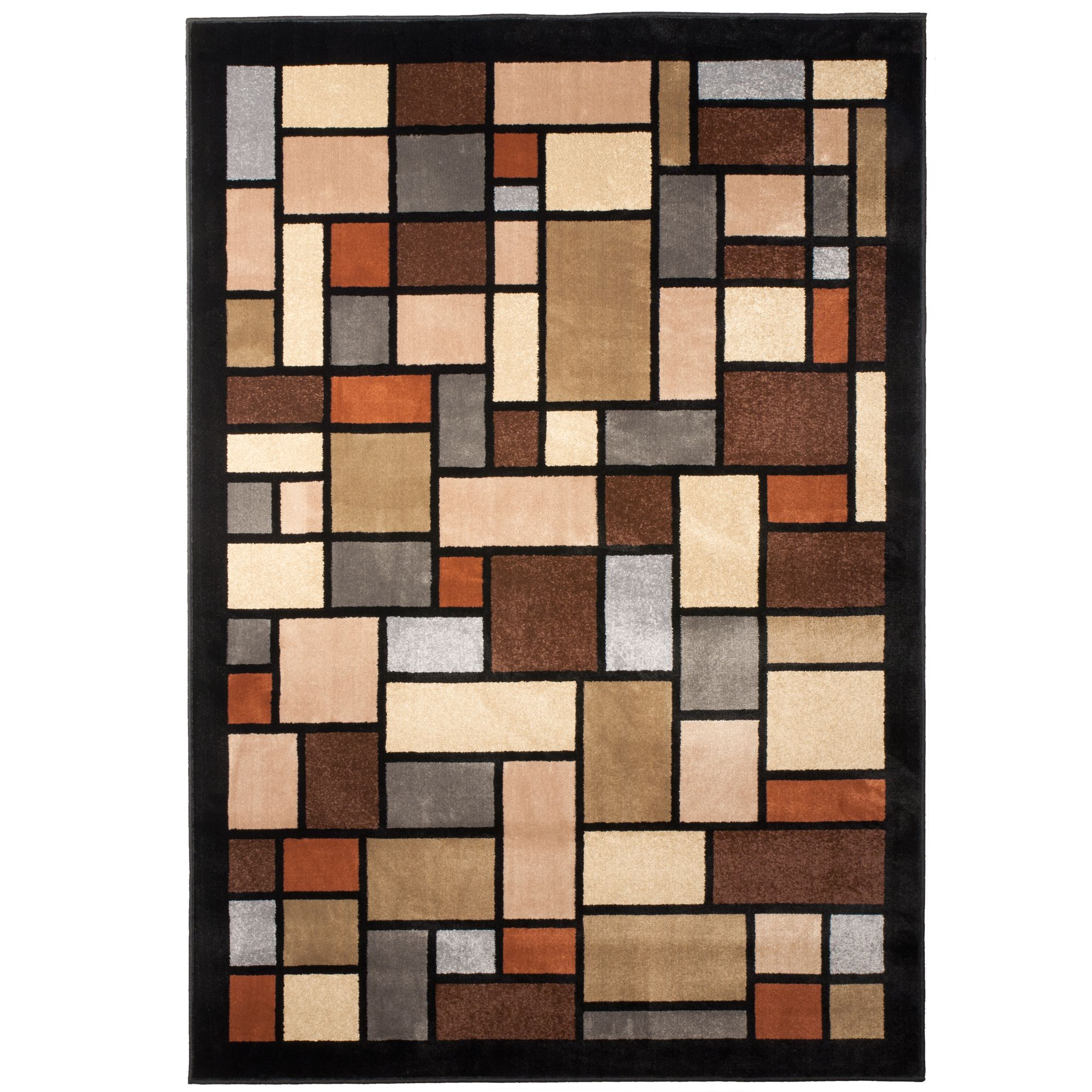 Orian Upton Block Area Rug 5ft 3in X 7ft 6in, Area Rugs | Walmart Canada