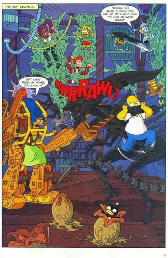 Aliens VS Simpsons