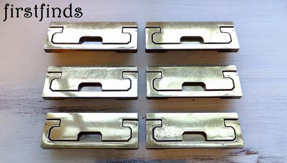 6 Campaign Handles Dresser Drawer Pulls Vintage By Firstfinds