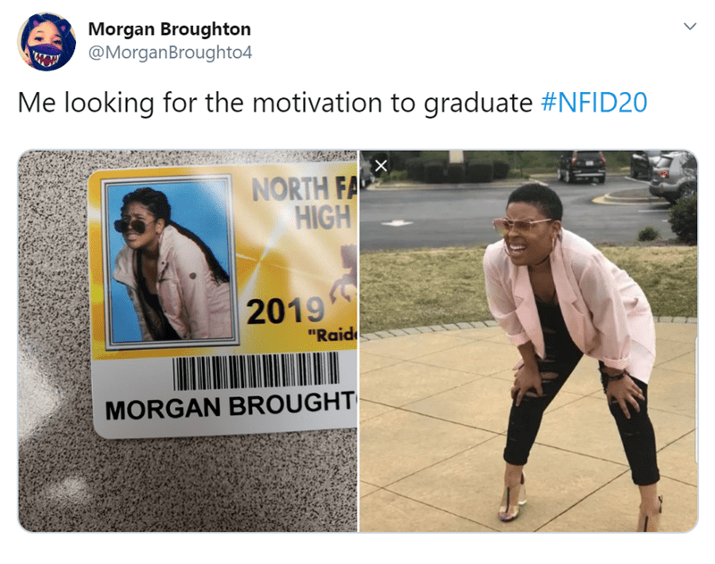 High School Seniors Dress Up As Their Favorite Memes And Characters For Their Id Photos Funny Memes School Id Funny