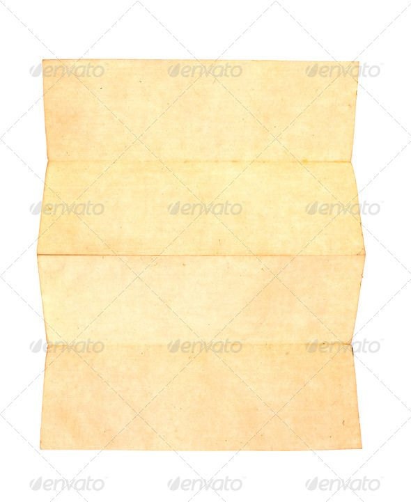 Old paper isolated on a white background abstraction, aged - blank memo