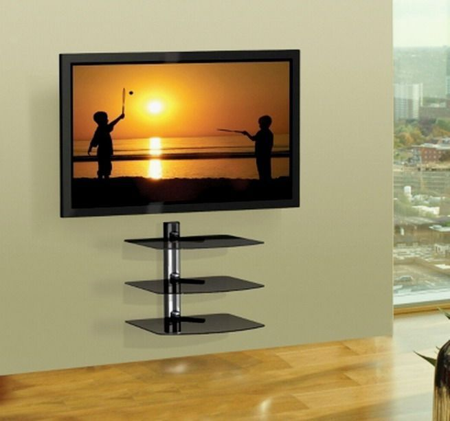 Modest Design Tv Wall Mounts With Shelves Mount Shelf At Lowes Flat