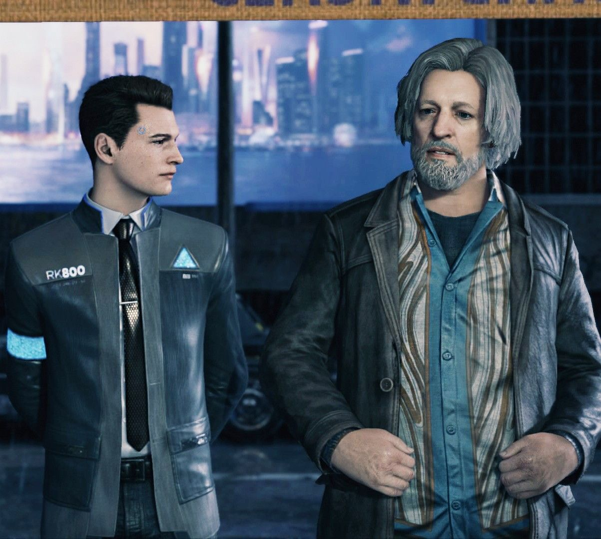 Detroit: Become Human, Connor and Hank | Game _ ScreenShots