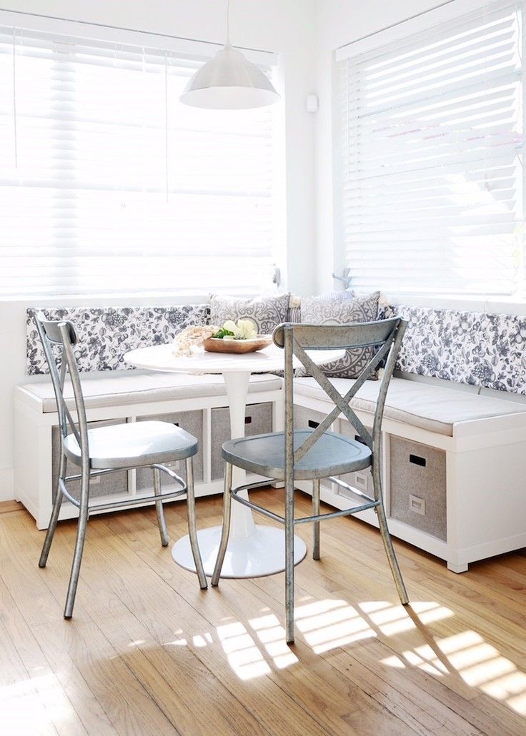 Breakfast Nook Via Know How She Does It Dining Room Small Banquette Seating In Kitchen Breakfast Nook Bench