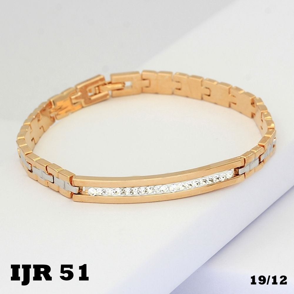 Gelang Couple Emas Bariis Permata Xuping 18k JR51 | Couples