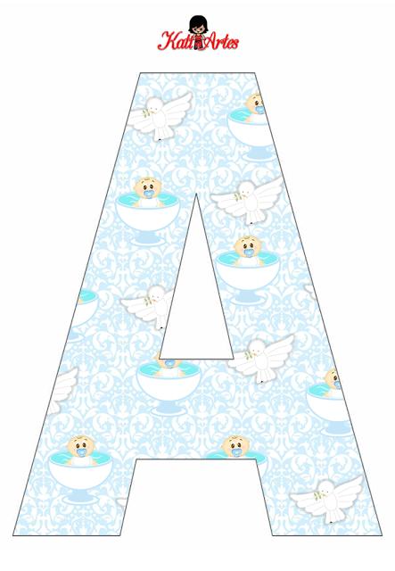 Alfabeto de Angelitos Bebés para Bautismo.   Letras   Pinterest ...