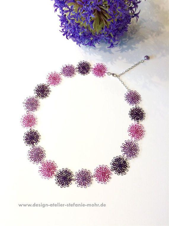 statement wire crochet BLOSSOM necklace/choker by smdesignatelier ...