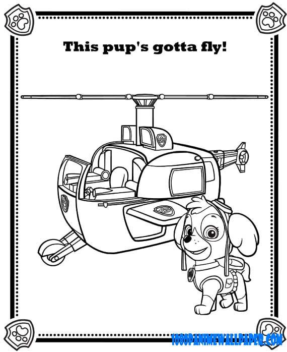 Paw Patrol Coloring Pages Skye File Skye Hellicopter Clr Page