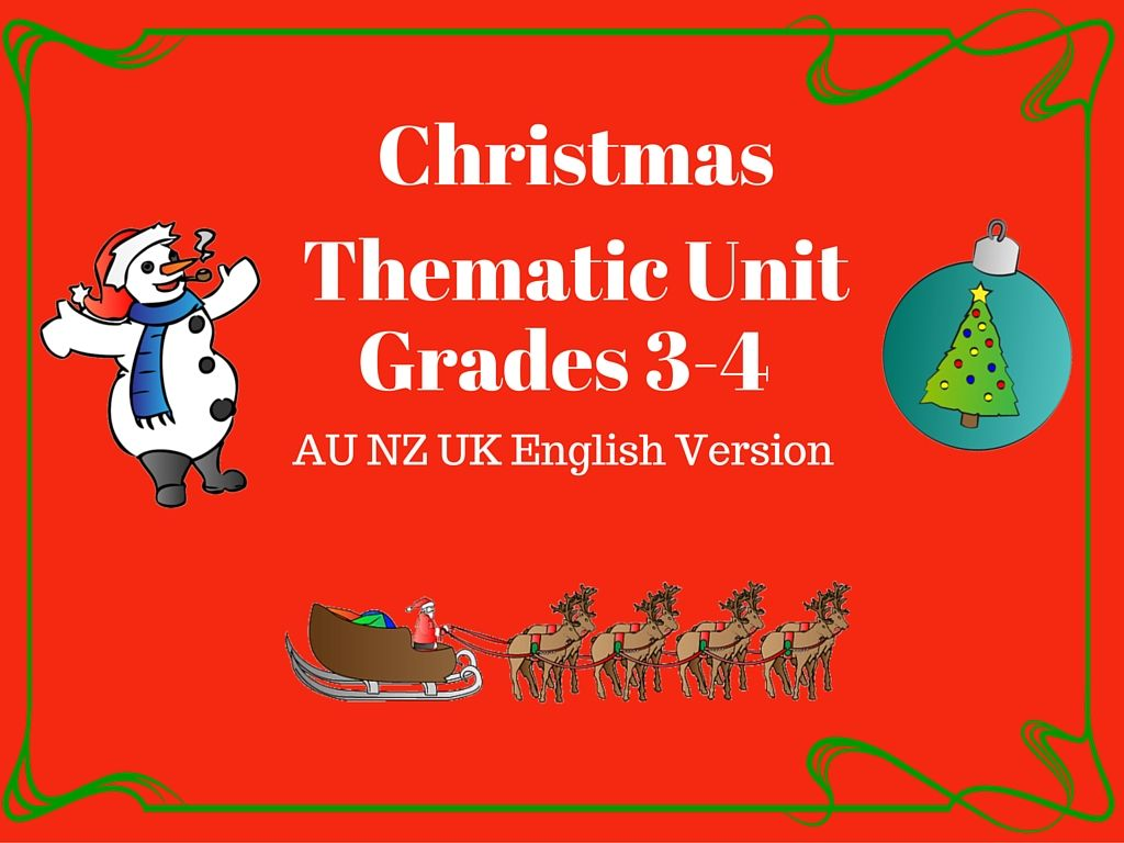 This Christmas Thematic Unit Has 39 Pages Consisting Of