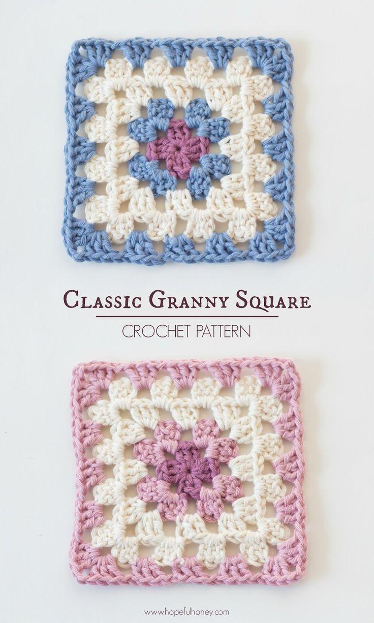 Classic Granny Square - Free Crochet Pattern | Granny Squares ...