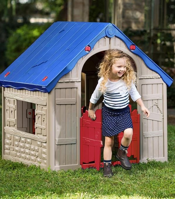 Unfold The Keter Foldable Playhouse Anytime Your Child Is Bored