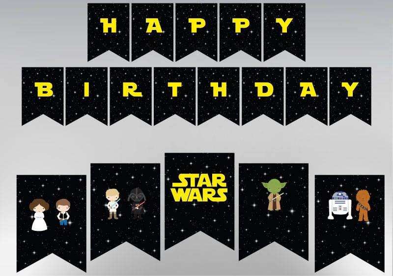 Star Wars Birthday Banner Printable Star Wars Birthday Banner Party Printable Personalized Customizabl Star Wars Birthday Birthday Banner Party Printables