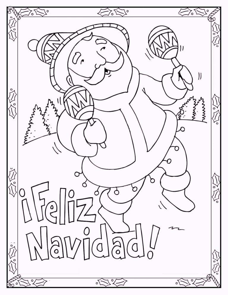 Feliz Navidad Christmas In Spain Coloring Page Printable Christmas Coloring Pages Christmas Coloring Pages Santa Coloring Pages