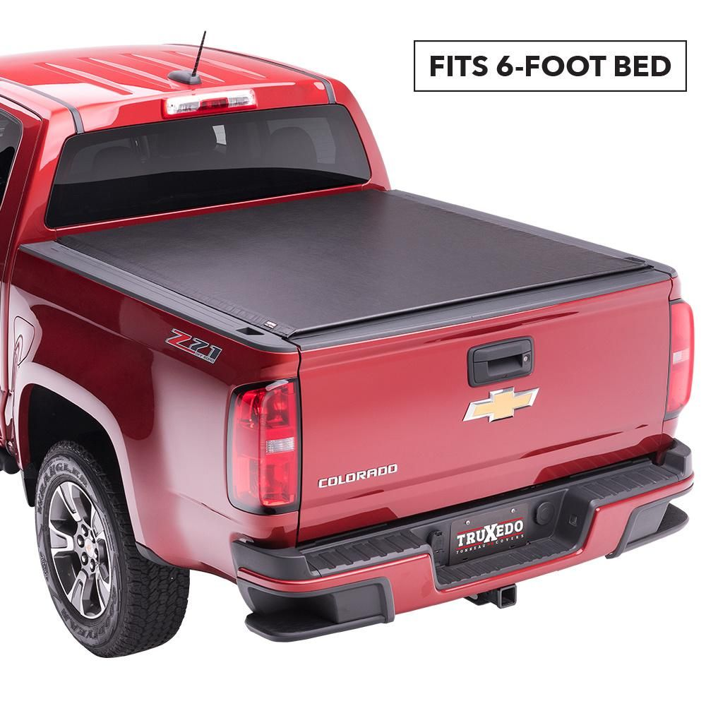 Lo Pro 15 19 Chevy Colorado Gmc Canyon 6 Ft 2 In Bed Tonneau Cover With Sport Bar Blacks Tonneau Cover Chevy Custom Trucks