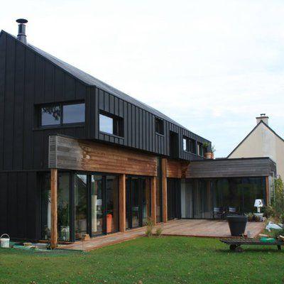 une maison bon march mais de qualit maison pinterest maison ossature bois et paroi. Black Bedroom Furniture Sets. Home Design Ideas