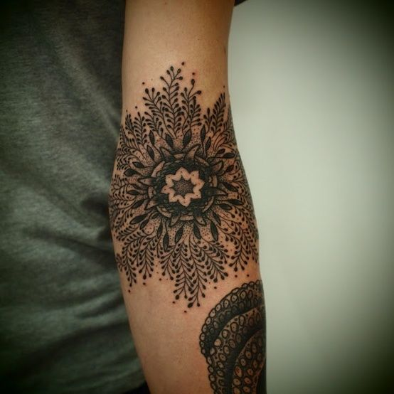 Black Flower Tat | Tattoo Ideas