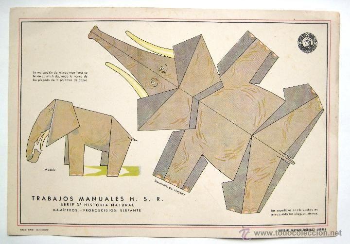 LAMINA RECORTABLE TRABAJOS MANUALES HIJOS DE SANTIAGO RODRIGUEZ - Trabajos Manuales