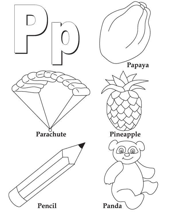 P For Alphabet Coloring Pages