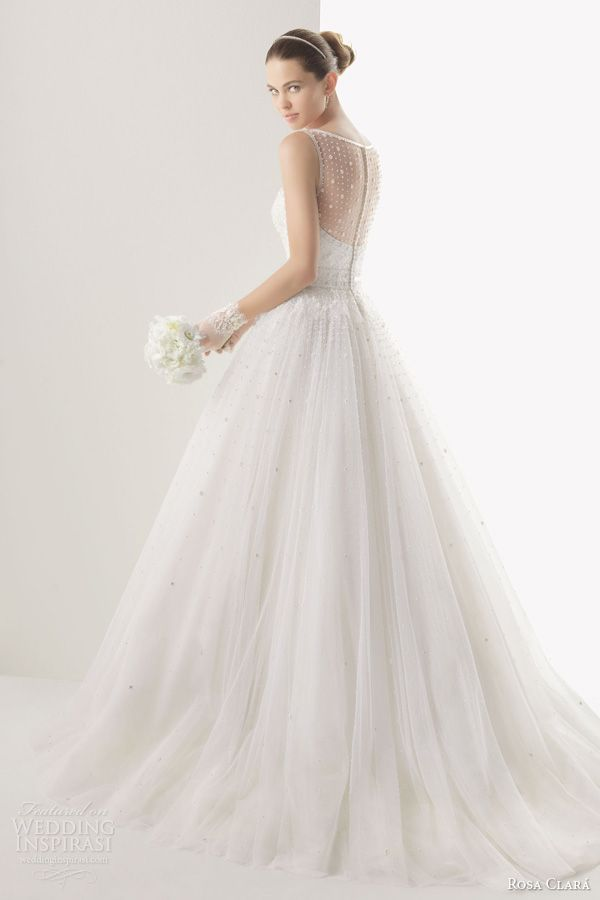 rosa clara 2014 bridal cometa sleeveless ball gown wedding dress back