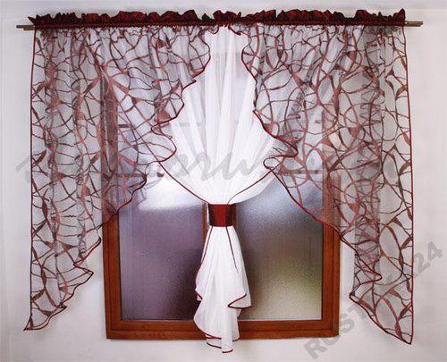 Firany z organtyny i woalu cortinas Pinterest Cortinas, Hogar