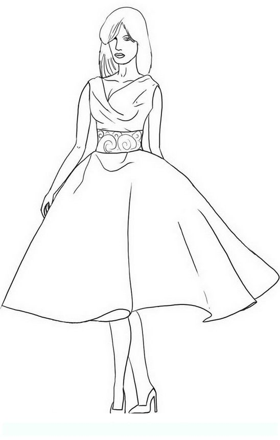 Fashion Teens And Adults Coloring Pages Fashion Coloring Book