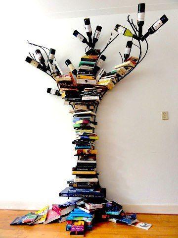 Awesome bookshelf.