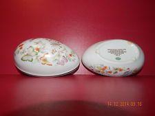 Avon Fine China Porcelain Egg Trinket Box with 22 K Gold Trim, Vintage 1974