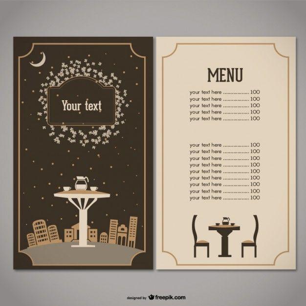 100 recursos gratuitos para restaurantes | Menu, Menu restaurant ...
