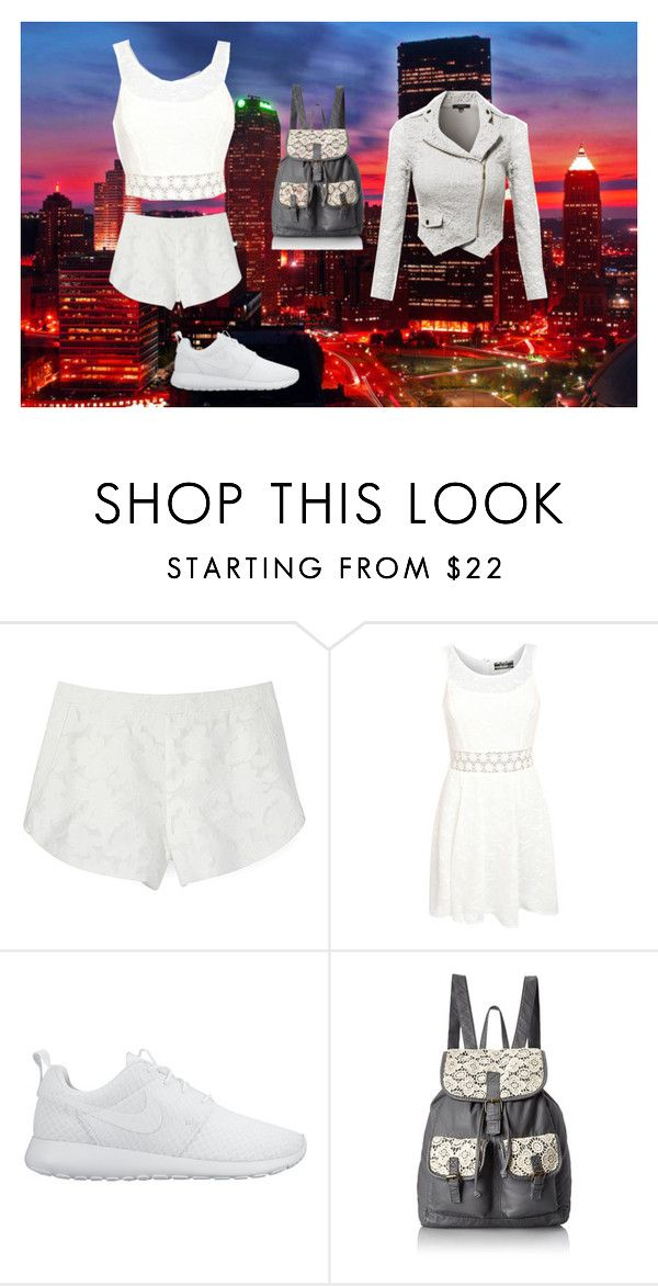 """visiting outfit"" by wolf134 on Polyvore featuring Rebecca Minkoff, Pilot, NIKE and T-shirt & Jeans"