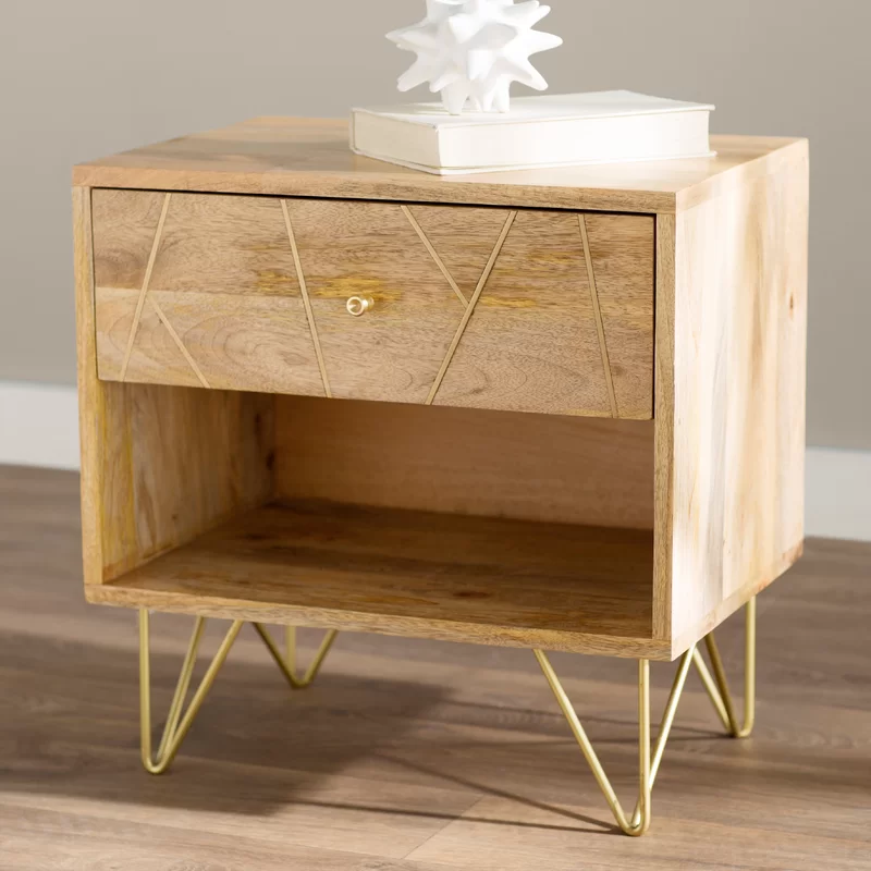 Banas 1 Drawer Nightstand In 2020 Furniture All Modern Furniture Modern Furniture