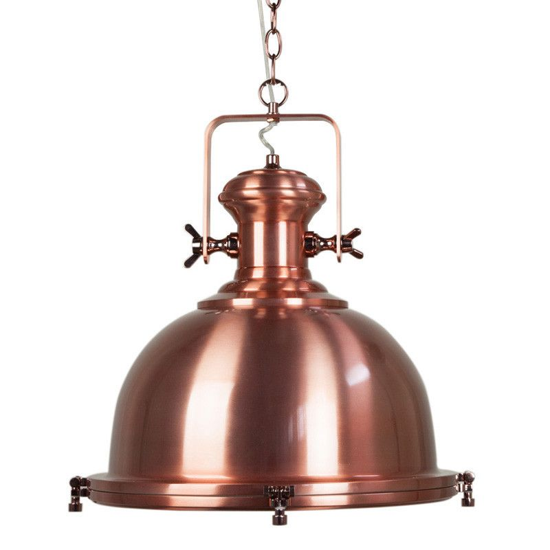 this beautiful copper pendant light has combines mixed industrial and vintage pendant lighting styles the beautiful copper finish will stun your guests
