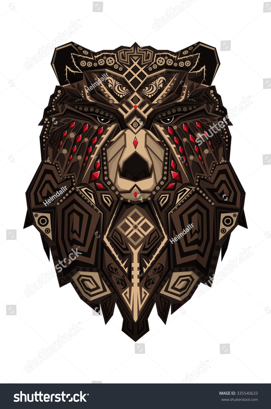 Pin By Grimodin On Tattoo Bear Tattoo Designs Bear Tattoos Tribal Bear Tattoo