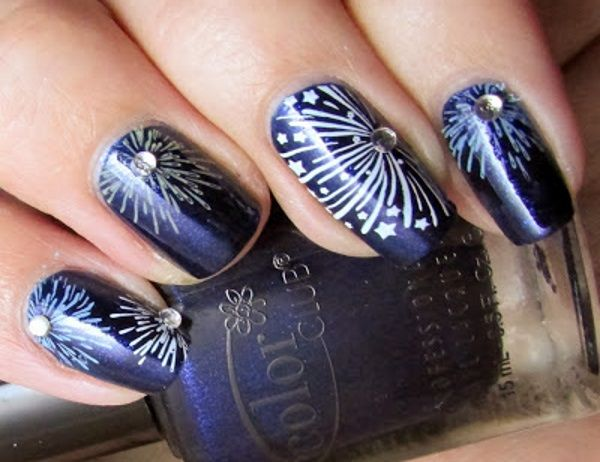 23 terrific fireworks nail designs firework nails firework nail 23 terrific fireworks nail designs prinsesfo Images