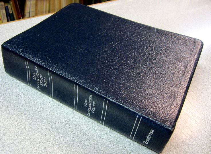 NIV Life Applications Study Bible Navy Blue Bonded Leather