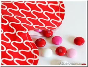 Paper Valentine Candy Filled Hearts