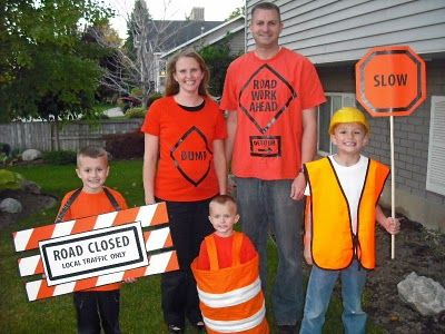 Family Halloween Costume: Road Construction | Halloween ...