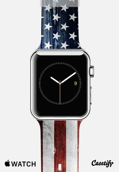 American Wooden Flag Apple Watch Band Casetify Apple