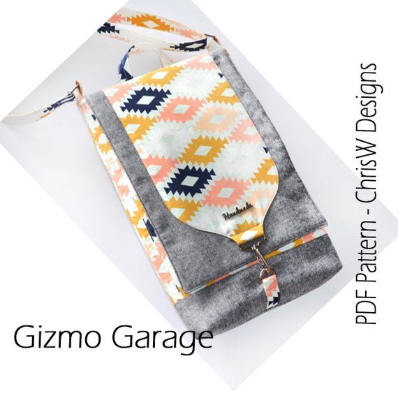 The Multi-size Gizmo Garage Bag - PDF Sewing Pattern | bordando y ...
