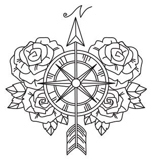 Find The True Path With This Beautiful Compass Rose Design