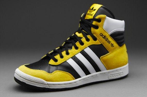 Desagradable vitamina Bajar  Outlet Adidas Originals Pro Conference HI - Mens Select Footwear UK -  Black-Vivid Yellow-Running… | Sneakers men fashion, Women sport sneakers,  Mens sneakers casual