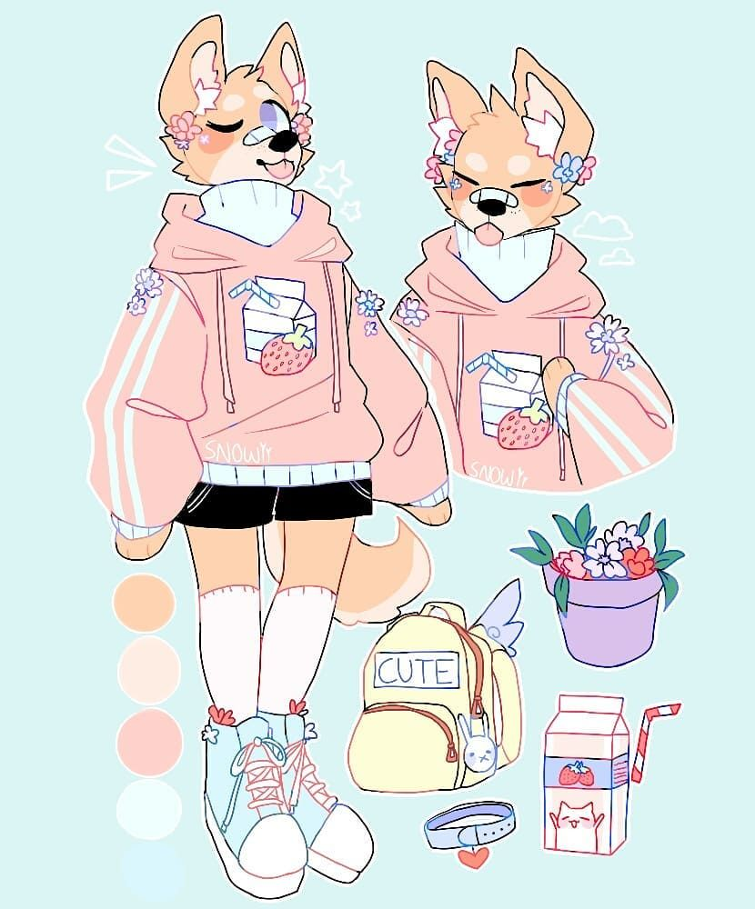 6 114 Likes 84 Comments Snowiitea On Instagram I M Sorry This Took Like 100 Years To Do A Custom For A Furry Art Character Design Cute Art Styles