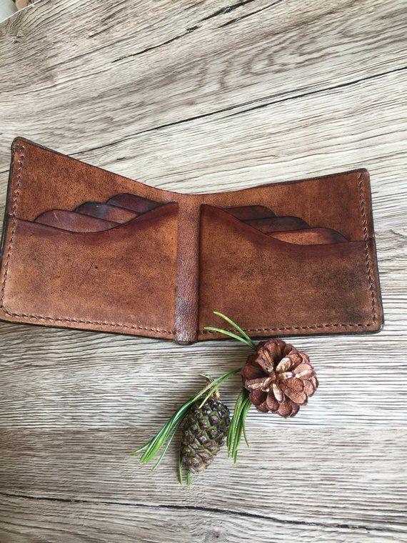 Classic Leather Wallet / Men's Leather Wallet / Card Holder / Handmade / Genuine Italian Leather Wallet #leatherwallets