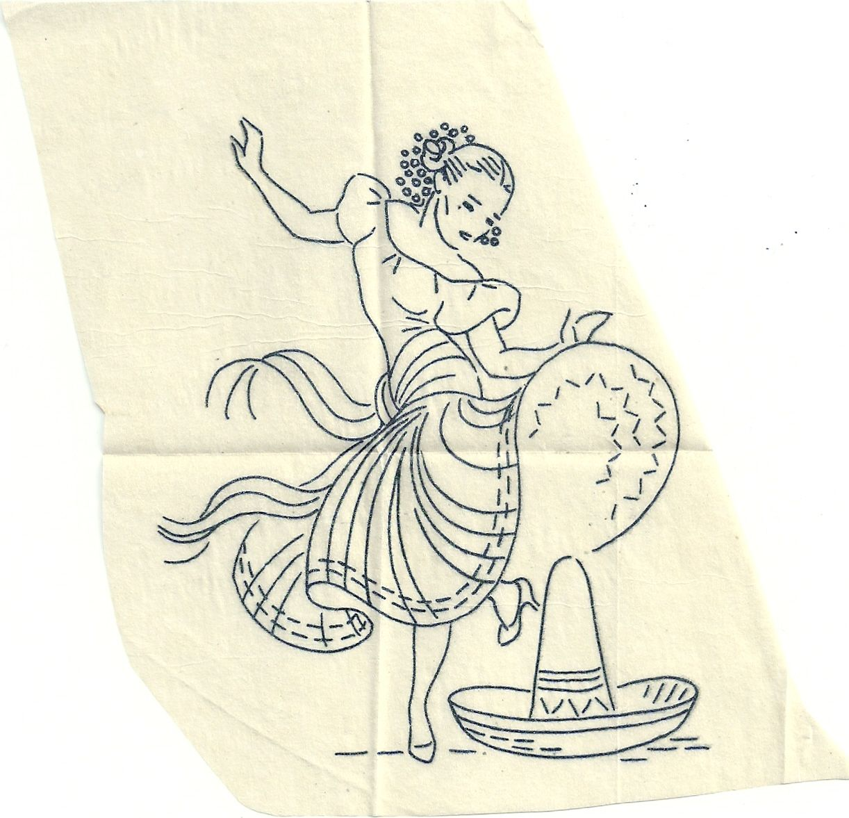 Female dancer dance of the latins embroidery pattern found on female dancer dance of the latins embroidery pattern found on flickr group hoop love bankloansurffo Choice Image