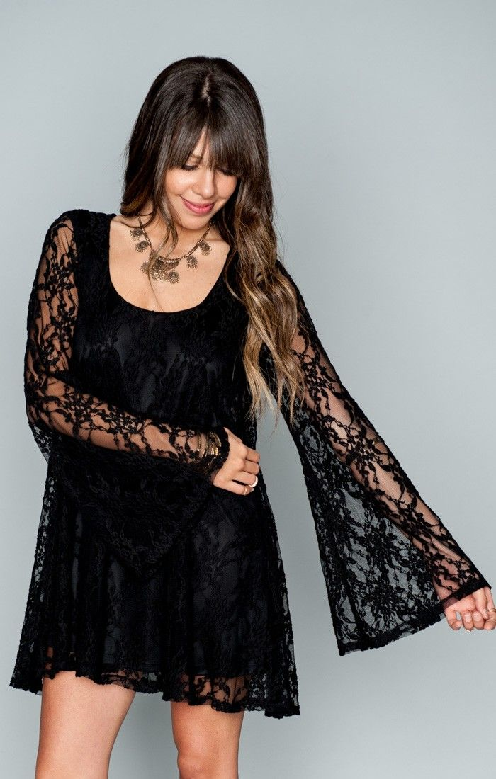 61d4f0c8f9f1 Fannie Flow Dress ~ Flower Chain Lace Black | Show Me Your MuMu ...