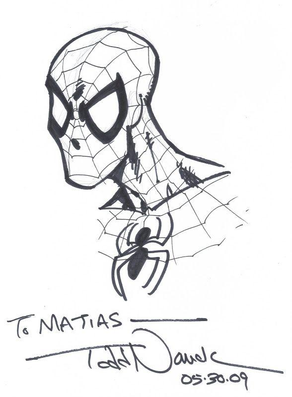 MIS DIBUJOS DE DIBUJANTES DE COMIC: Spiderman de Todd