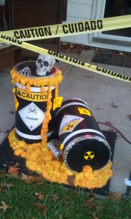 Toxic barrels Halloween Bar Setup Ideas Pinterest Barrels