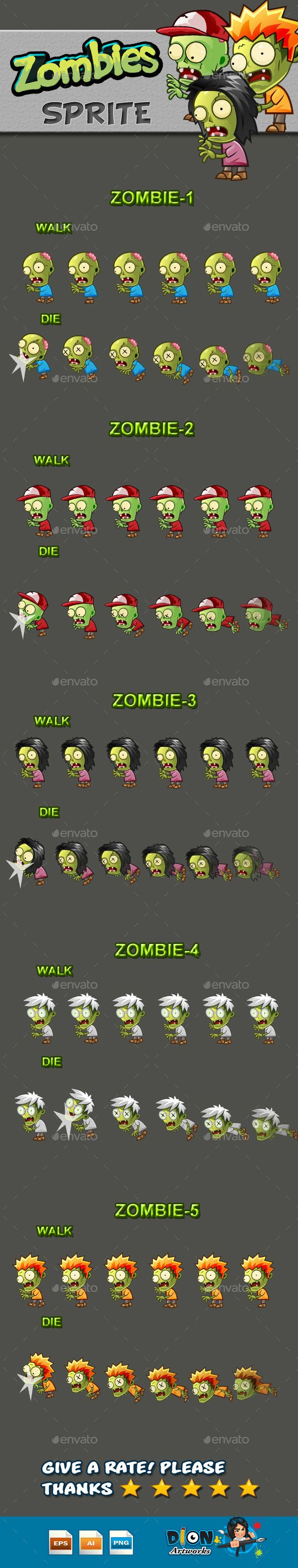 Zombies Sprite Sheets Download here https//graphicriver