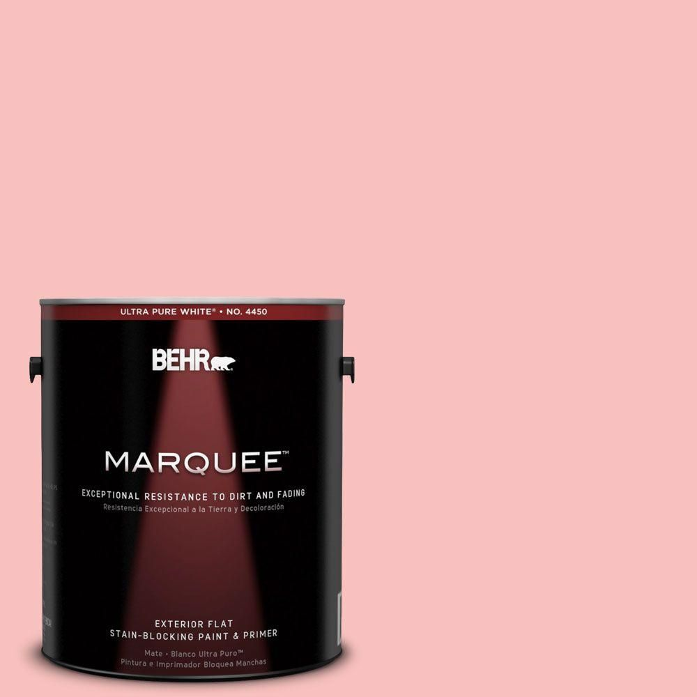 BEHR MARQUEE 1-gal. #160A-3 Pink Hydrangea Flat Exterior Paint ...